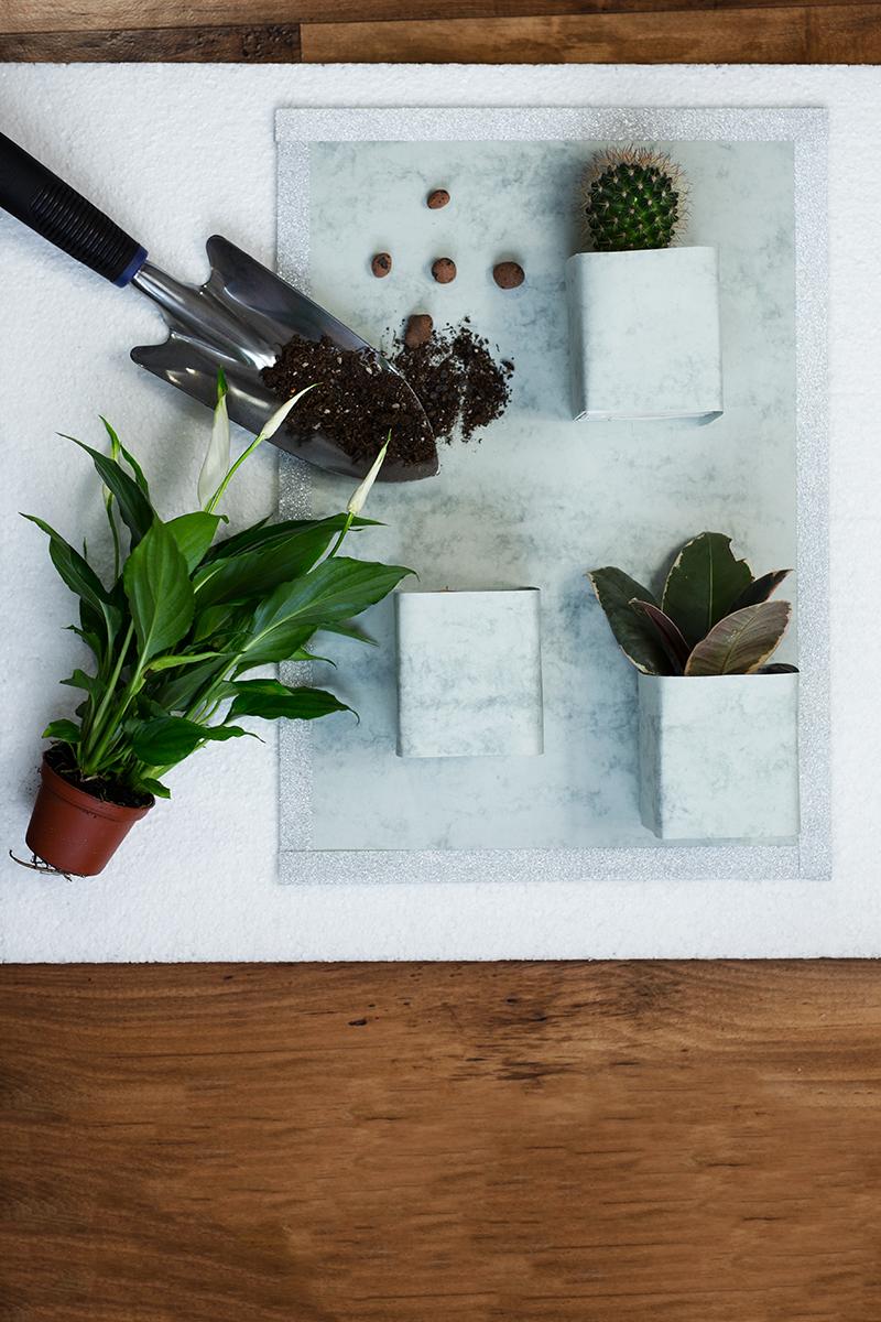 Vertikaler Garten DIY Low Budget selber machen