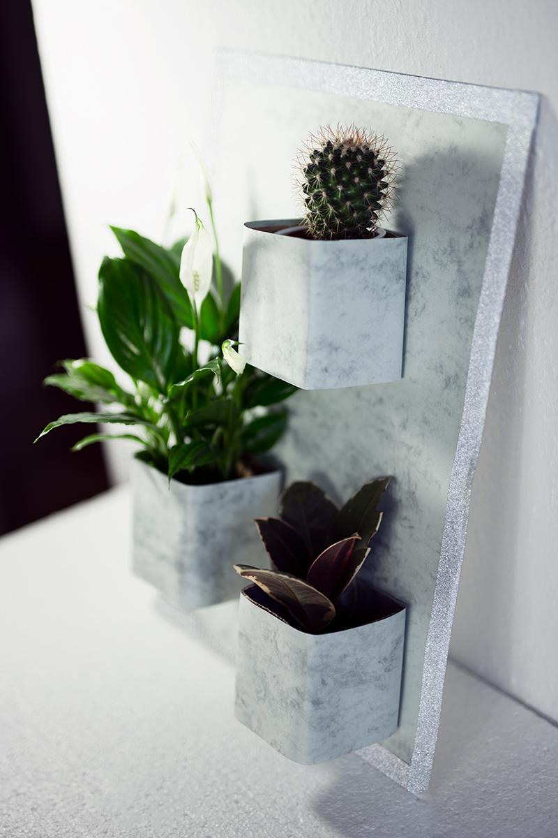 Vertikaler Garten Low Budget DIY Idee