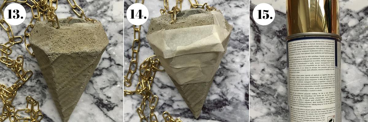 Beton Diamant Gold Ansprühen
