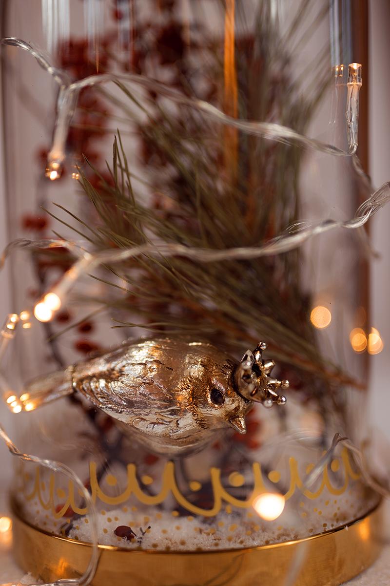 Edle Glasglocke - Deko für Weihnachten
