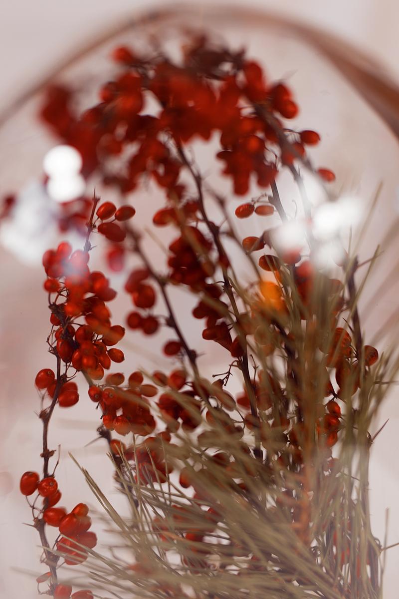 Edle Glasglocke - Dekoration für Weihnachten Detail