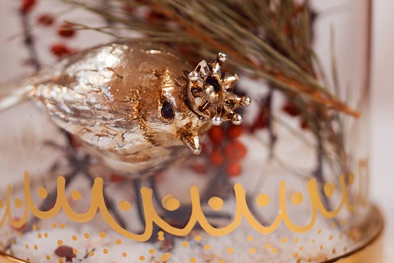 Edle Glasglocke - Dekoration für Weihnachten Idee