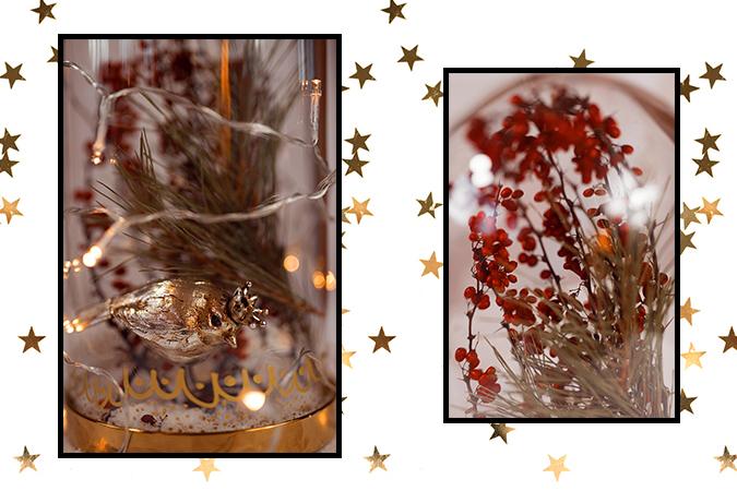Edle Glasglocke - Dekoration für Weihnachten