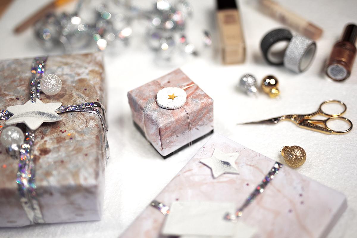 Geschenkpapier selbst gemacht diy