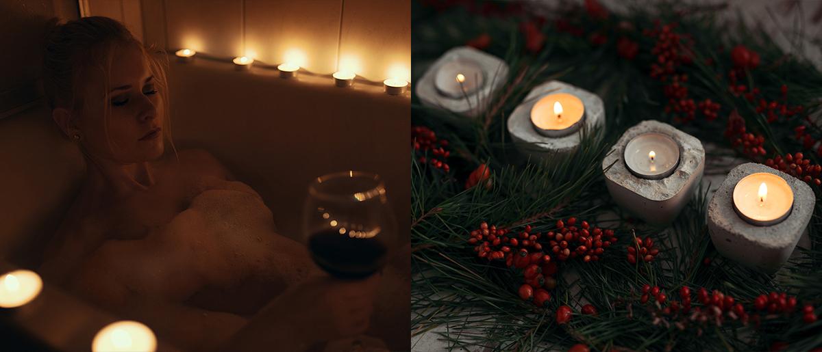 Kerzen für weihnachtliche Fotos Tipps Tricks