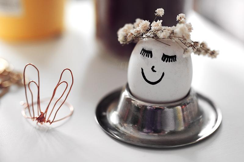 Ostereier dekorieren süße DIY Ideen Hasen Ohren