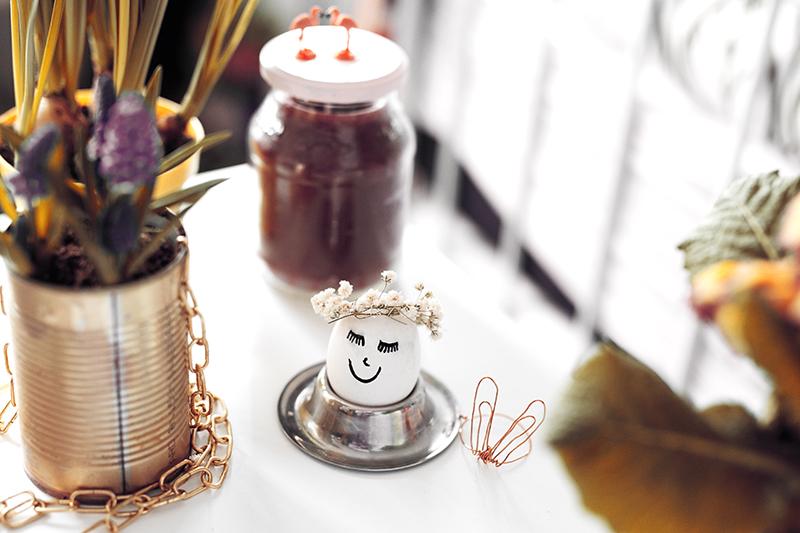 Ostereier dekorieren süße DIY Ideen Hasen