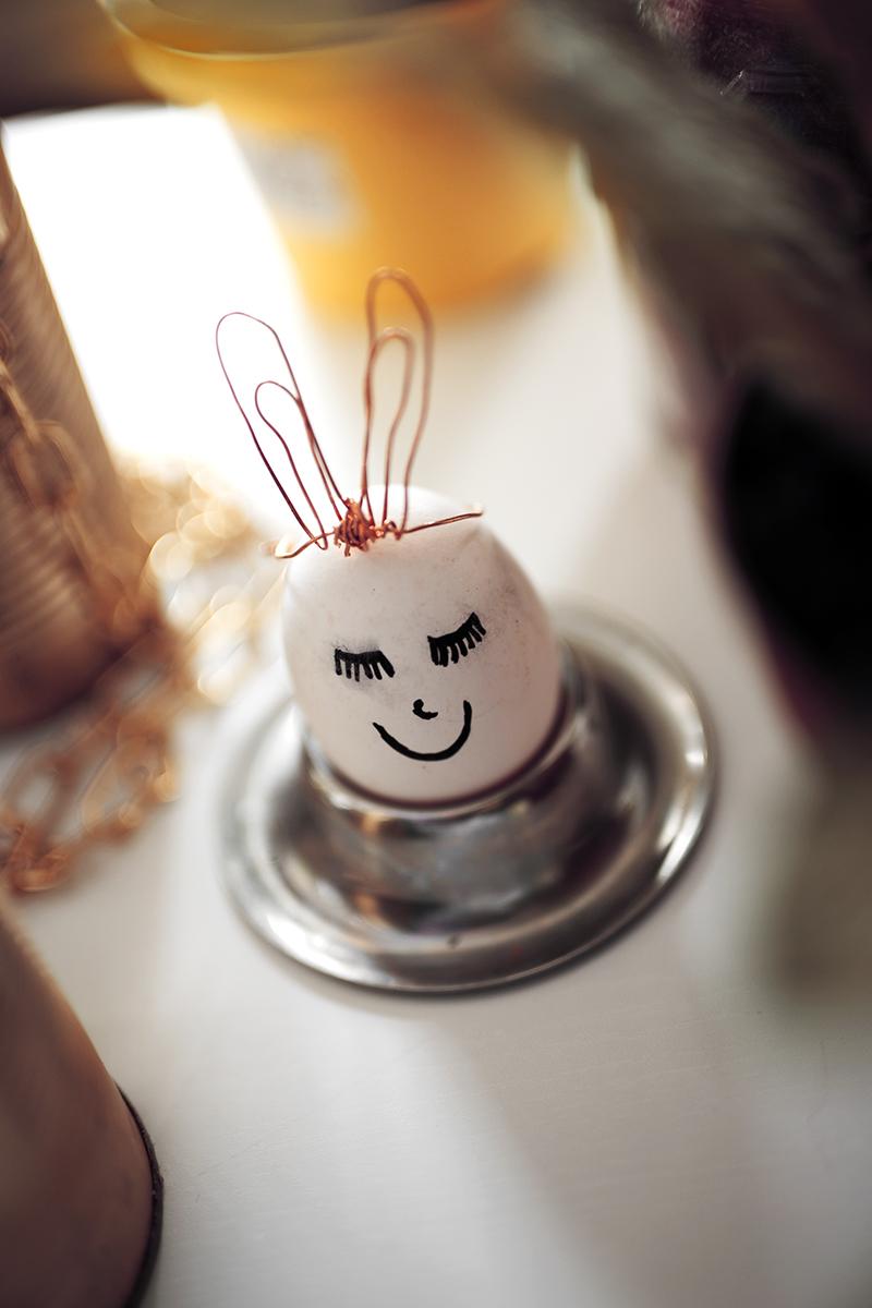 Ostereier dekorieren süße DIY Ideen mit Draht