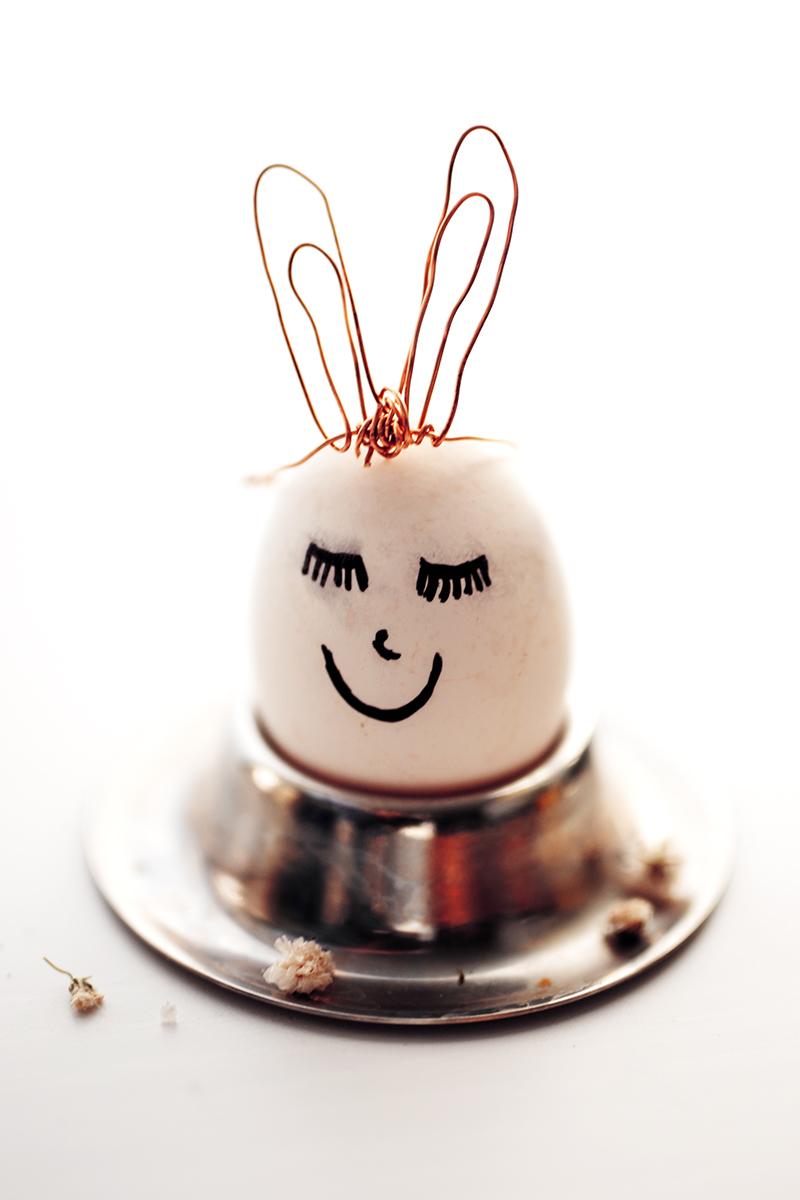 Ostereier dekorieren süße DIY Ideen mit Kupfer