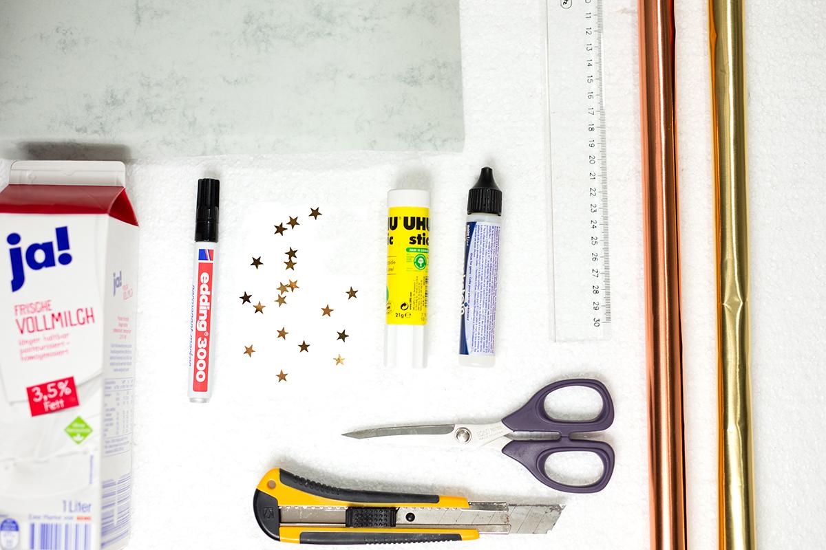 Pinselhalter DIY Low Budget Vorbereitung