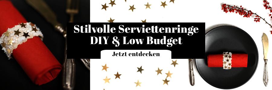 Serviettenringe DIY Low Budget