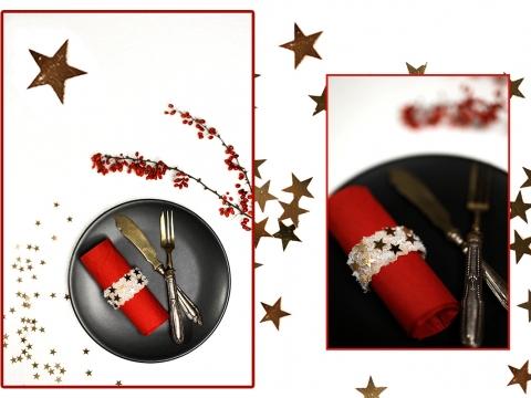 Serviettenringe DIY Low Budget Idee für Weihnachten