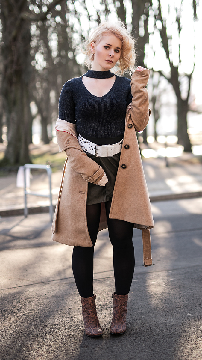 Sexy Silvester Outfit für Damen Stilbruch Rock