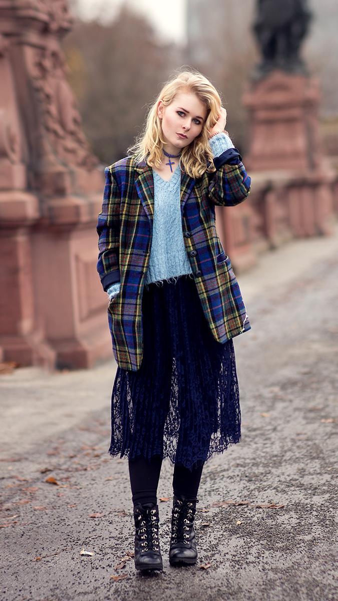 Silvester Outfit für Damen Bunter Mantel