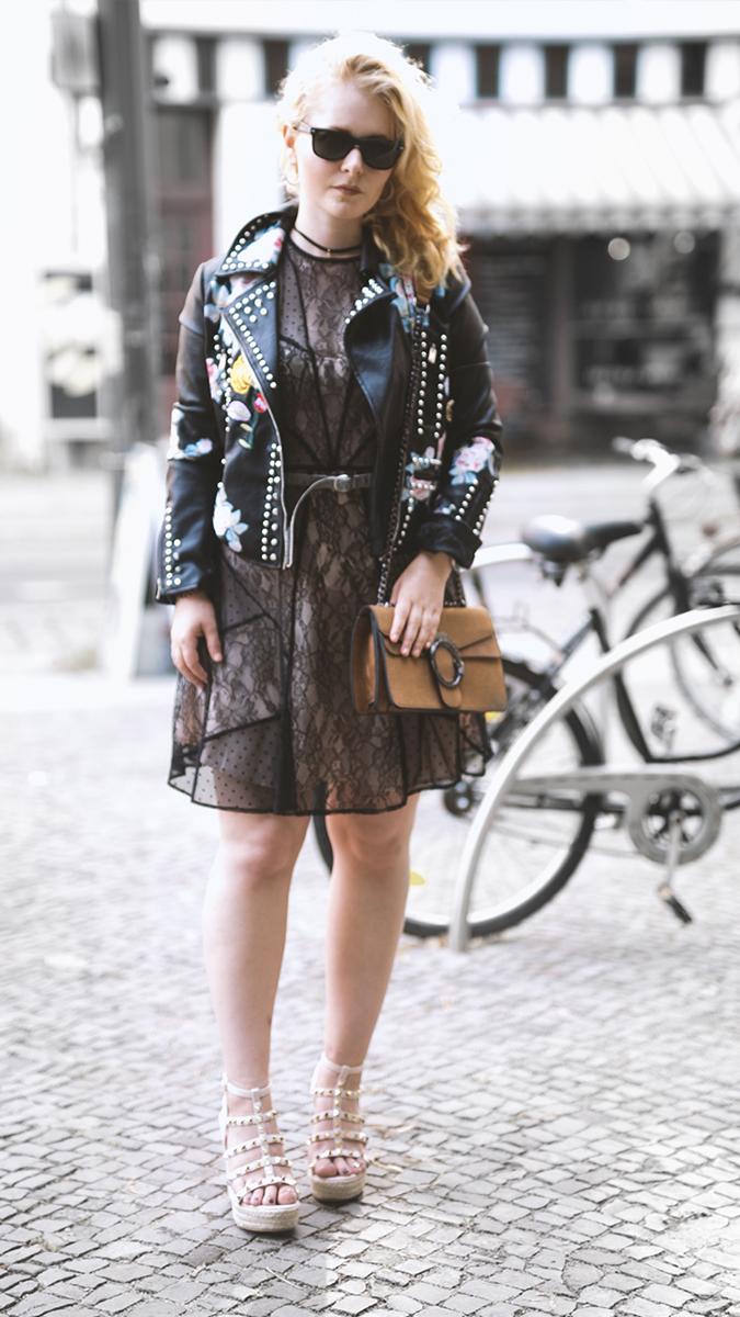 Silvester Outfit für Damen Spitzenkleid