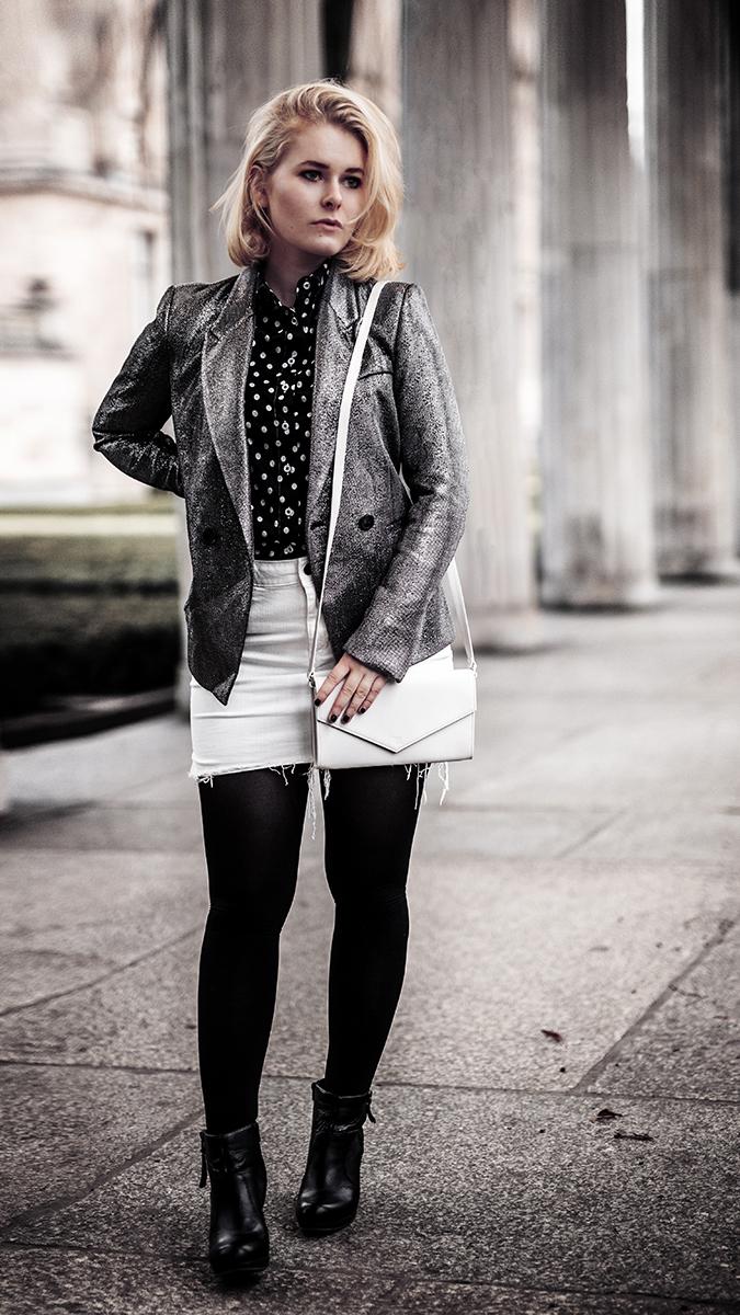 Silvester Outfit für Damen mit Blazer