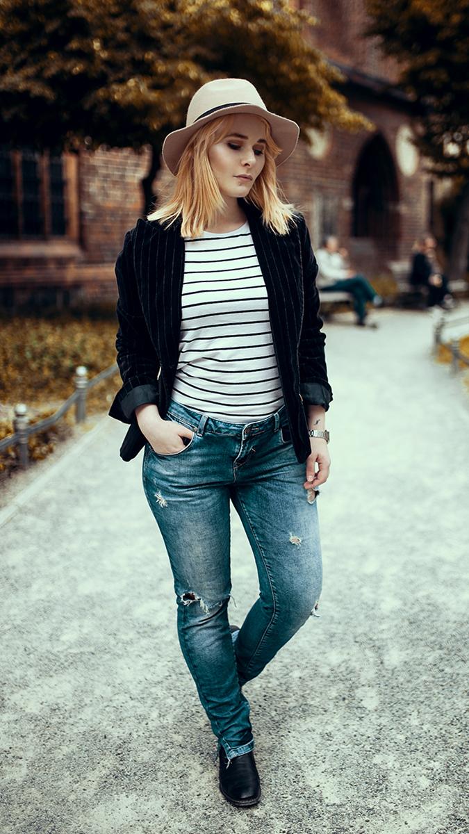 Silvester Outfit für Damen mit Jeans