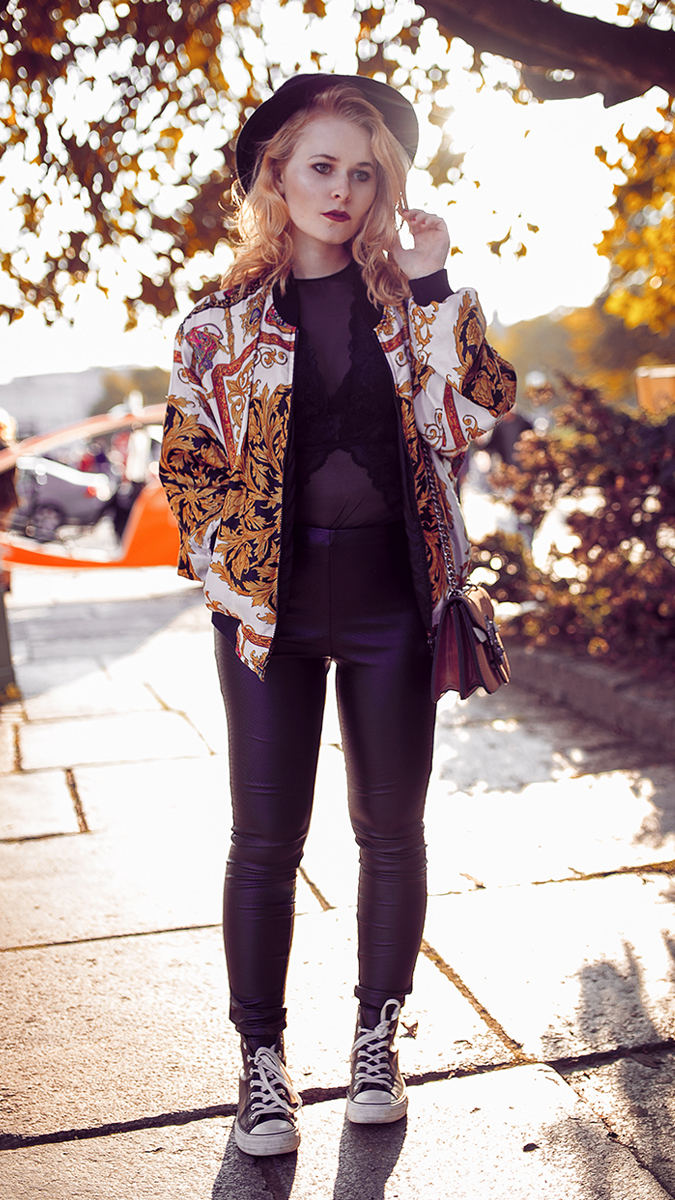 Silvester Outfit für Damen mit Lederhose