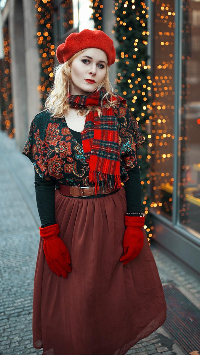Silvester Outfit für Damen mit Maxi Rock