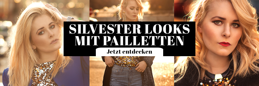 Silvester Outfits mit Pailletten