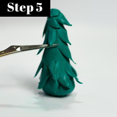 Tanne aus Fimo für DIY Schneekugel