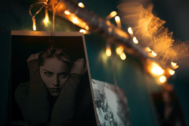 Diy Fotowand mit Birkenstamm mit Schwarz Weiß Bildern