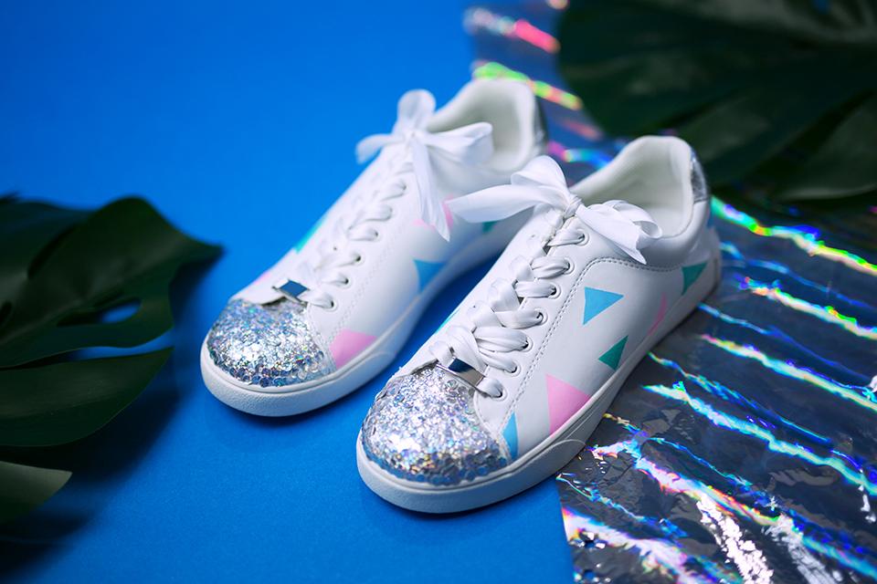 Diy Pastell Schuhe mit Holo Effekt selbst gemacht mit Pintor