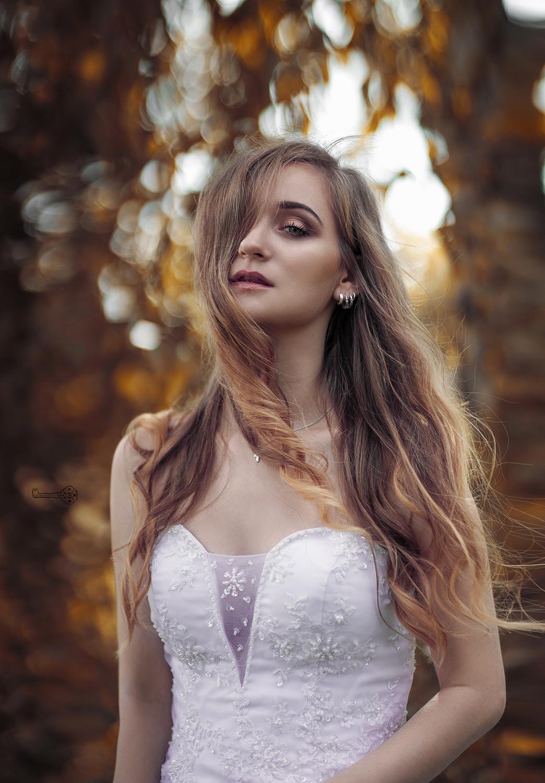 Fotoshooting im Hochzeitskleid und Video Portrait