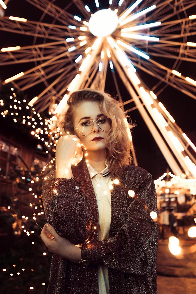 Jahresrückblick 2017 Christina Key Portrait mit Lichterkette