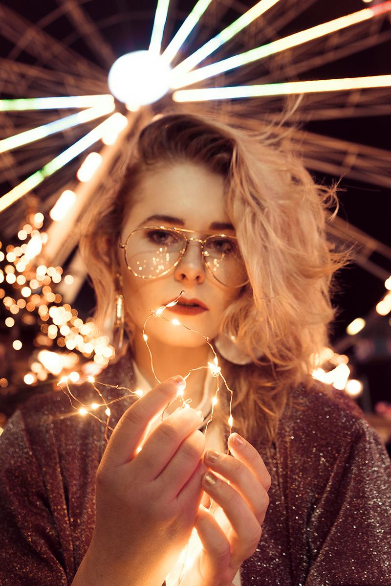 Jahresrückblick 2017 Portrait mit Lichterkette
