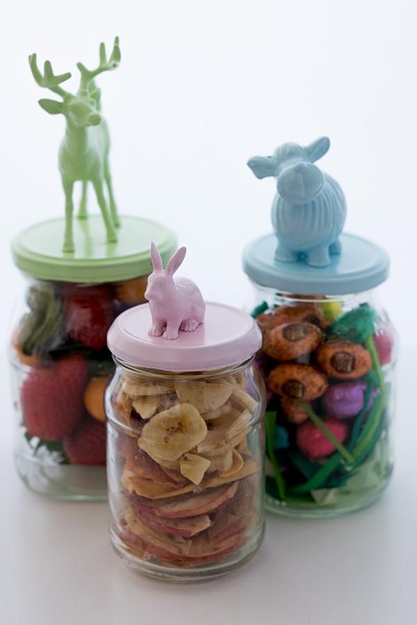 Marmeladengläser Upcycling DIY Osterdeko Pastell