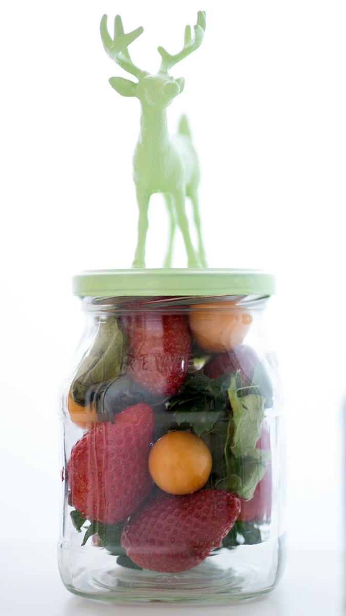 Marmeladengläser Upcycling DIY Osterdeko mit Hirsch