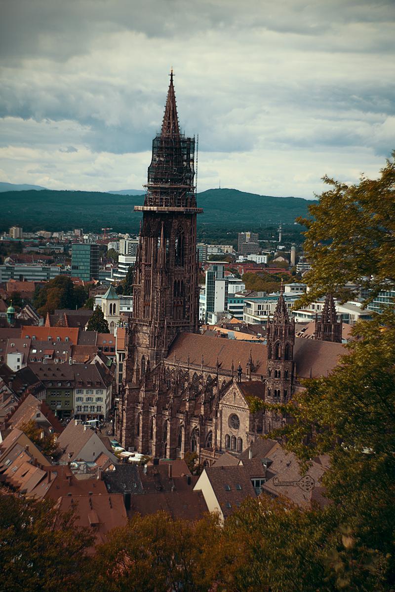 Meine Fotobearbeitung früher vs heute Freiburger Münster früher