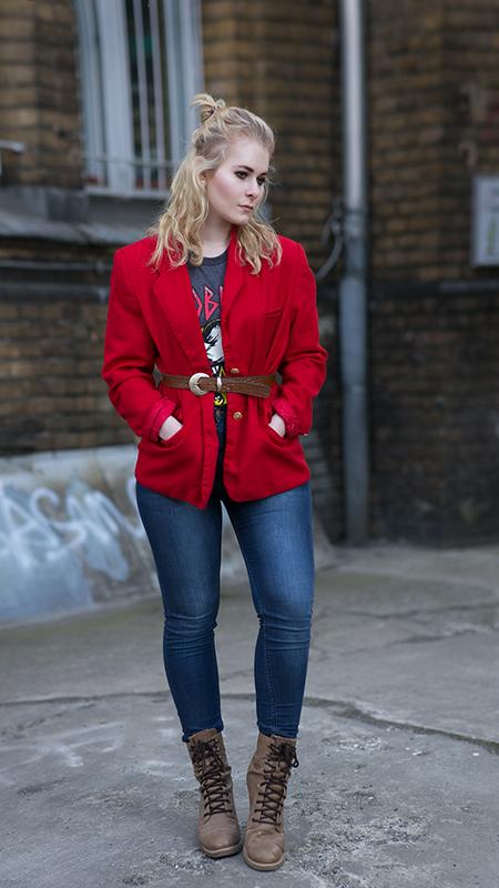 Rot kombinieren & Foto Tipps für Fashion Blogger Blazer in rot