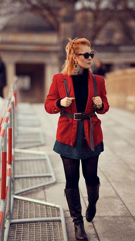 Rot kombinieren & Foto Tipps für Fashion Blogger Blazer rot