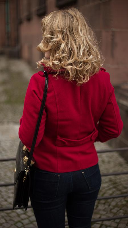 Rot kombinieren & Foto Tipps für Fashion Blogger Jacke in rot