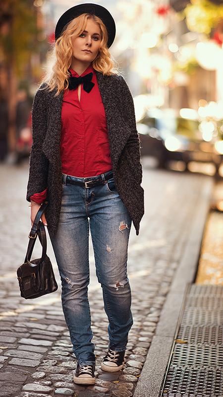 Rot kombinieren & Foto Tipps für Fashion Blogger Rotes Shirt