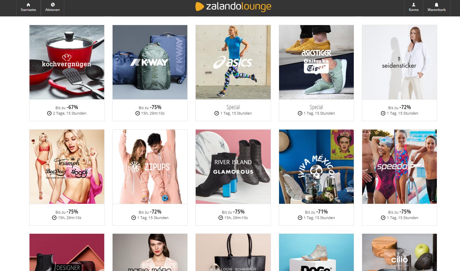 Zalando Lounge Angebote