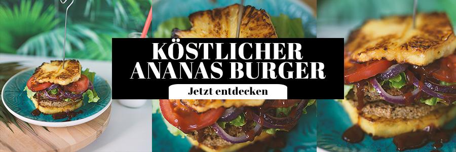 Ananas Burger Rezept Idee vegetarisch