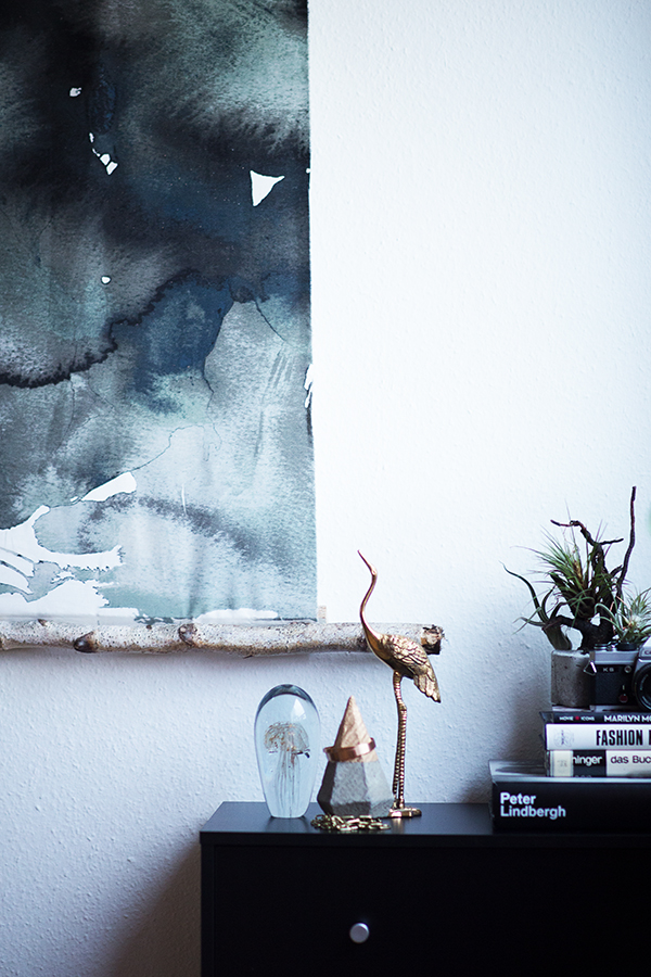 DIY Aquarell Bild Ikea Hack Low Budget Deko