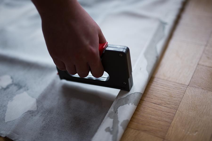 DIY Aquarell Bild Ikea Hack Low Budget Tacker