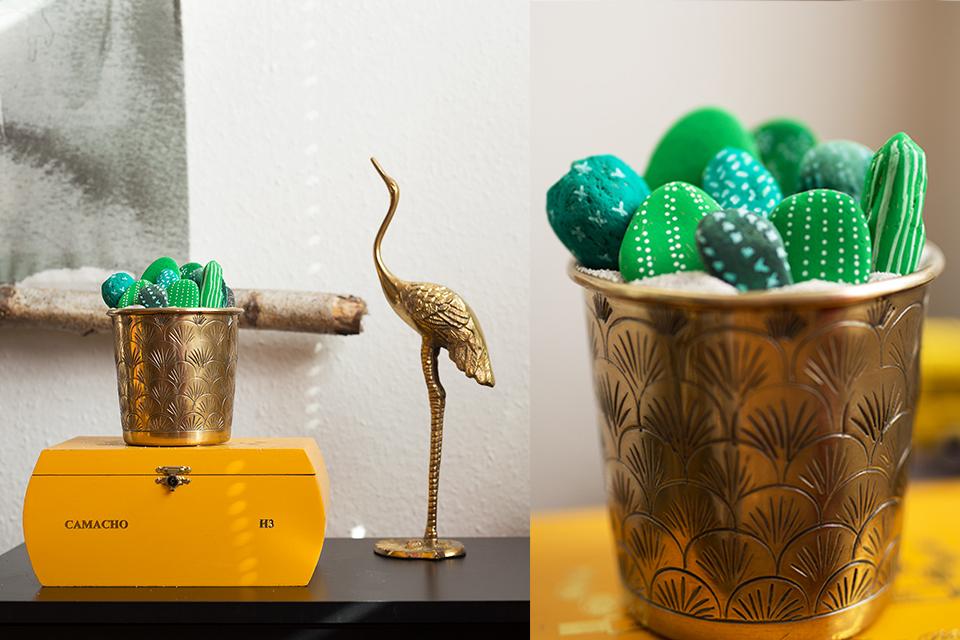 DIY Kakteen aus Steinen Deko selbstgemacht