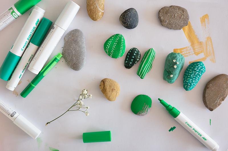 DIY Kakteen aus Steinen Tutorial