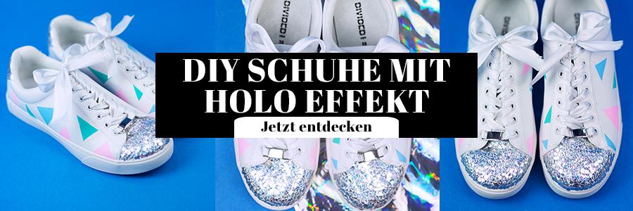 DIY Schuhe in Pastell mit Holo Effekt