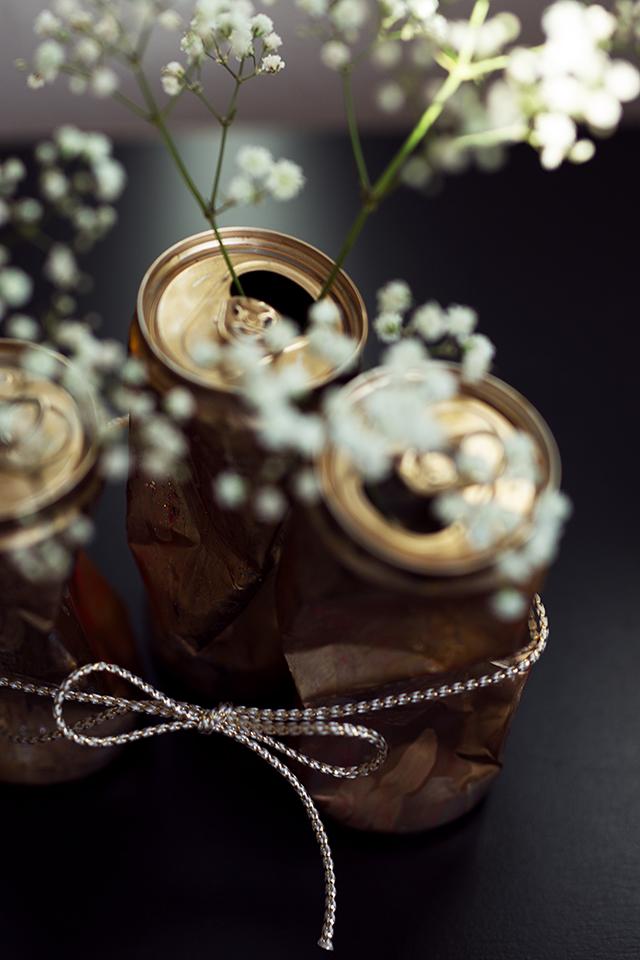 Dosen DIY Gold mit Schleife