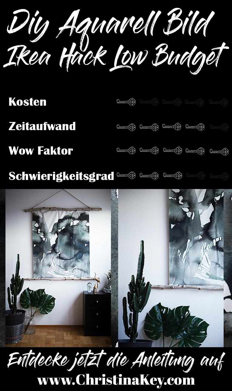 Ikea Hack DIY Aquarell Bild