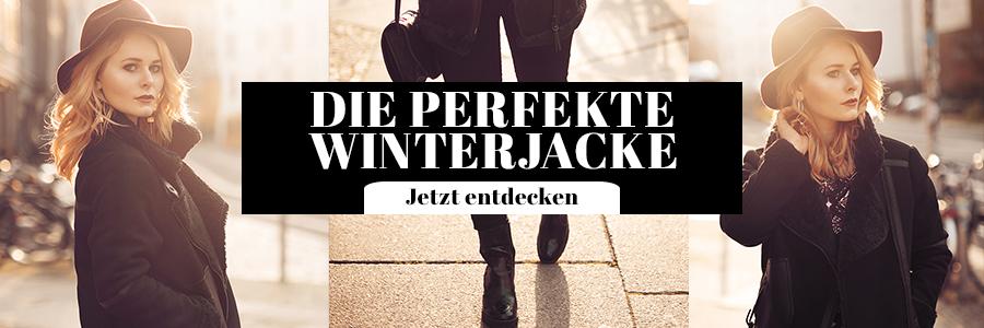 Outfit Damen Winterjacke schwarz Superdry