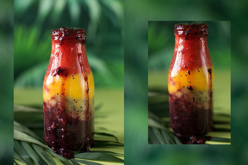 Regenbogen Smoothie Rezept gesund und lecker raw