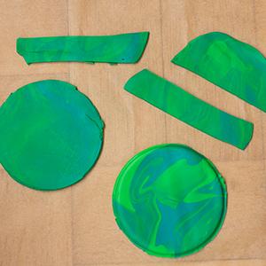 DIY Fimo Schmuckschachtel mit Kaktus Einzelteile