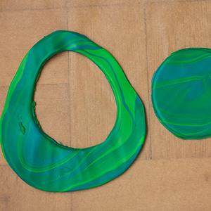 DIY Fimo Schmuckschachtel mit Kaktus Kreise